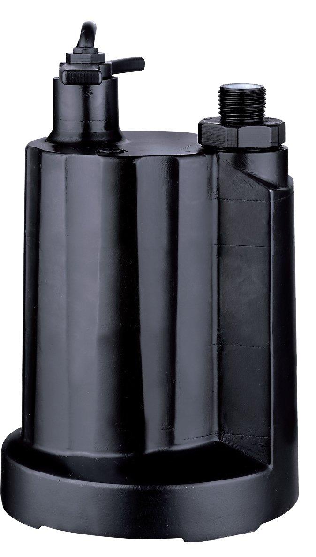 Acquaer UTP033-2 Acquaer 1/3 hp Submersible Utility Pump, Black
