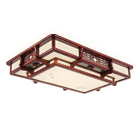 Lámpara de techo empotrada de madera 3 colores cambiantes ...