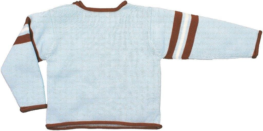 Zubels 100/% Hand-Knit Football Sweater All Natural Fibers