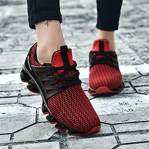 Shoes Red Mesh Walking On D Womens Womens Running Casual Trainers Performance Slip Sport Mens KUBUA Breathable aq1XA7qw