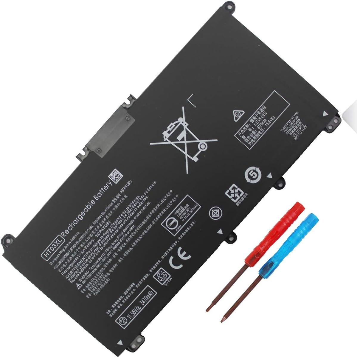 HT03XL Laptop Battery Compatible with HP Pavilion 14-CE 14-CF 14-CK 14-cm 14-DF 15-CS 15-CW 15-DA 15-DB 17-by 240 245 250 255 G7 340 348 G5 L11421-422 L11119-855 HSTNN-UB7J HSTNN-DB8R HSTNN-DB8S