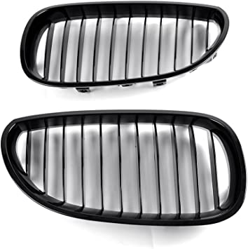 uxcell/® Matte Black Front Kidney Sport Grilles Grill For BMW E60 E61 5 Serie M5 03-09