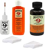 Hoppes 9 Elite Gun Cleaning kit - Gun Bore Cleaner and Lubricant Oil with 14.9 ML Precision Lubricator and 25-40 Patches…