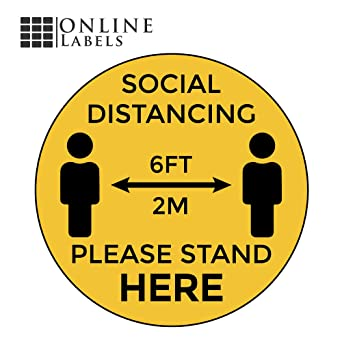 SOCIAL DISTANCING ZONE ONLY XX PEOPLE ALLOWEDAdhesive Vinyl Sign Decal