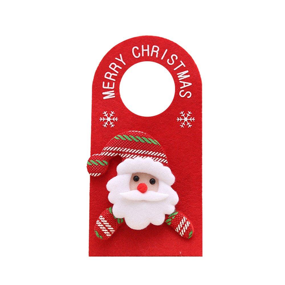 Little rock Cartoon Xmas Santa Claus Snowman Moose Bear Christmas Door Hanger