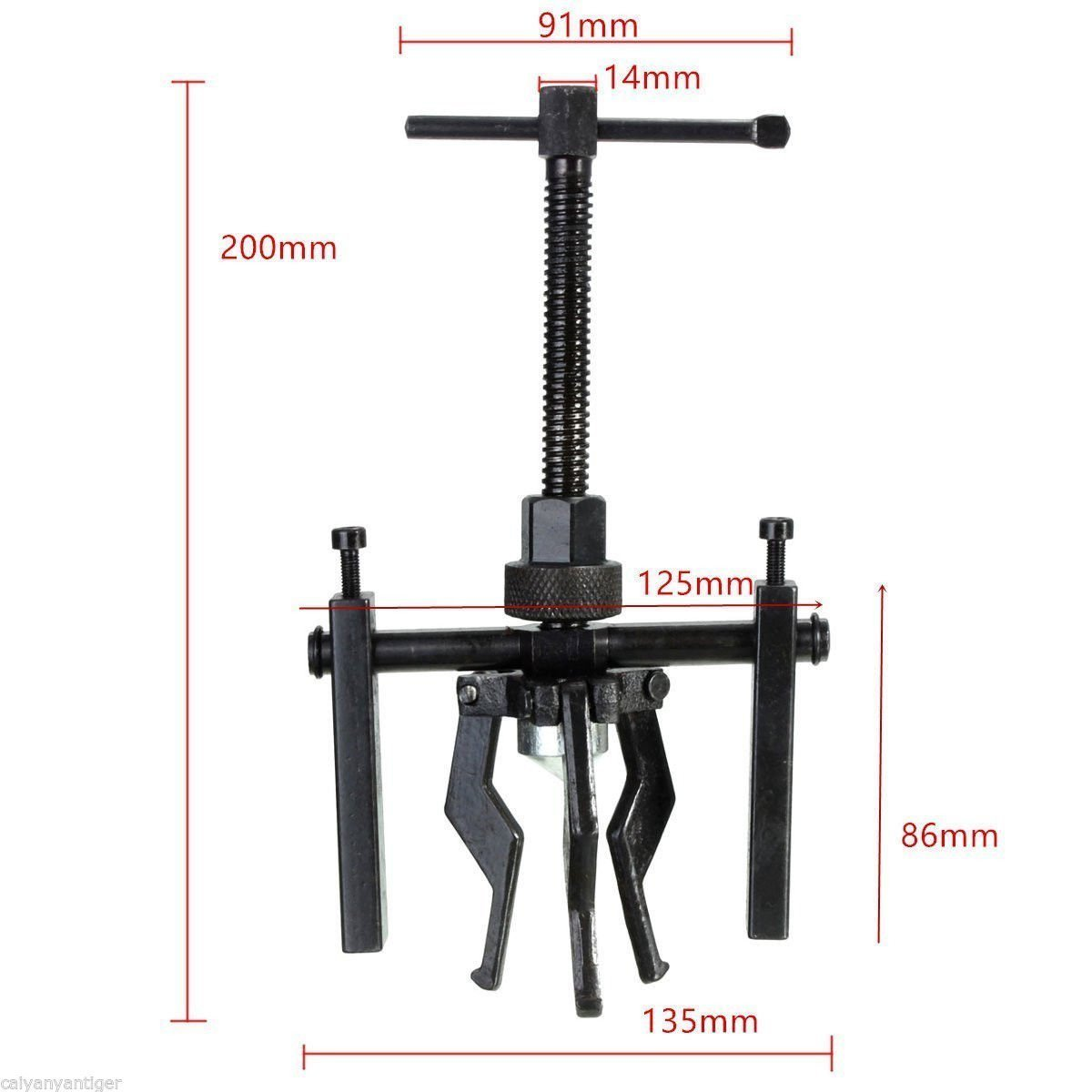 3-Jaw Inner Bearing Puller Gear Extractor Heavy Duty Automotive Machine Tool Kit Size 200x135mm 3 Jaws for Removes All Sleeve-type Bearings with 1//2-2 inside Diameter