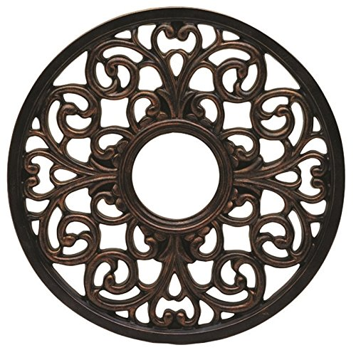 (Westinghouse 7776400 Round Parisian Scroll Polyurethane Ceiling Medallion, Antique Bronze)