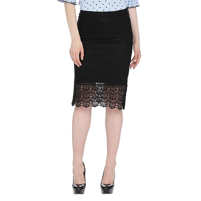 9d23e3d63b8e Annabelle By Pantaloons Women's Pencil Midi Skirt  (110040333005_Black_X-Large)