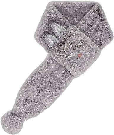 Kids Girls Soft Fluffy Plush Fabric Kitty Cat Winter Collar Scarf Neck Warmer