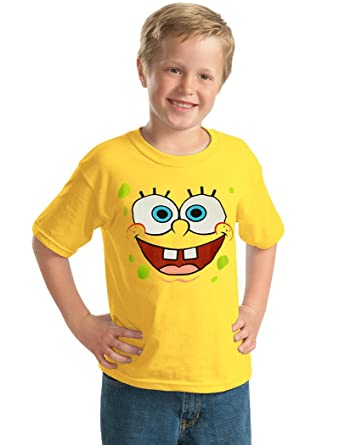 c1e96bcb8 Amazon.com: Animation Shops Spongebob Face Youth Kids T-Shirt: Clothing