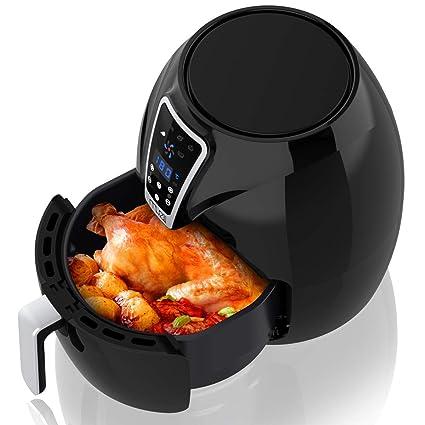 Muzili Freidora sin Aceite Mini Horno/Cocina Freidora para cocinar sin Grasa con Poca Grasa con Receta, 6 programas de cocción predeterminados, ...