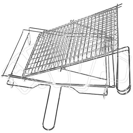 Parrilla abatible de 30 x 50 cm, rejilla para barbacoas, fuegos, hornos y