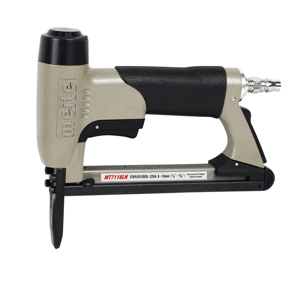 meite MT7116LN Upholstery Stapler- 22GA 71 Series 3/8' CROWN LONG NOSE Fine Wire Stapler C-crown Pneumatic Upholstery Stapler (1/4' TO 5/8' #MT7116LN) Guangdong meite Mechanical CO. LTD