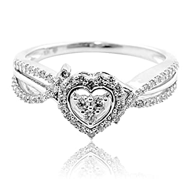 Midwest Jewellery Diamond Engagement Ring Heart Shaped
