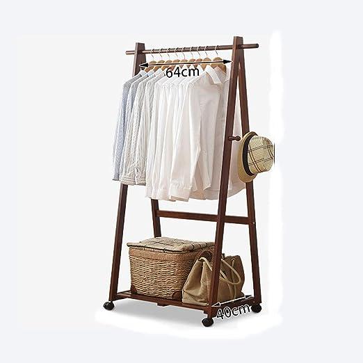 HUIQI Perchero Leqi Wood Coat Rack Floor Clothes Rack Nuevo ...