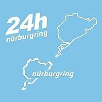 Autodomy Pegatinas Nurburgring Pack de 3 Unidades para Coche o ...