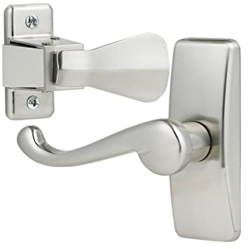Beau Ideal Security Inc. SKGLWSC Storm Door Lever Handle Set, Satin Chrome