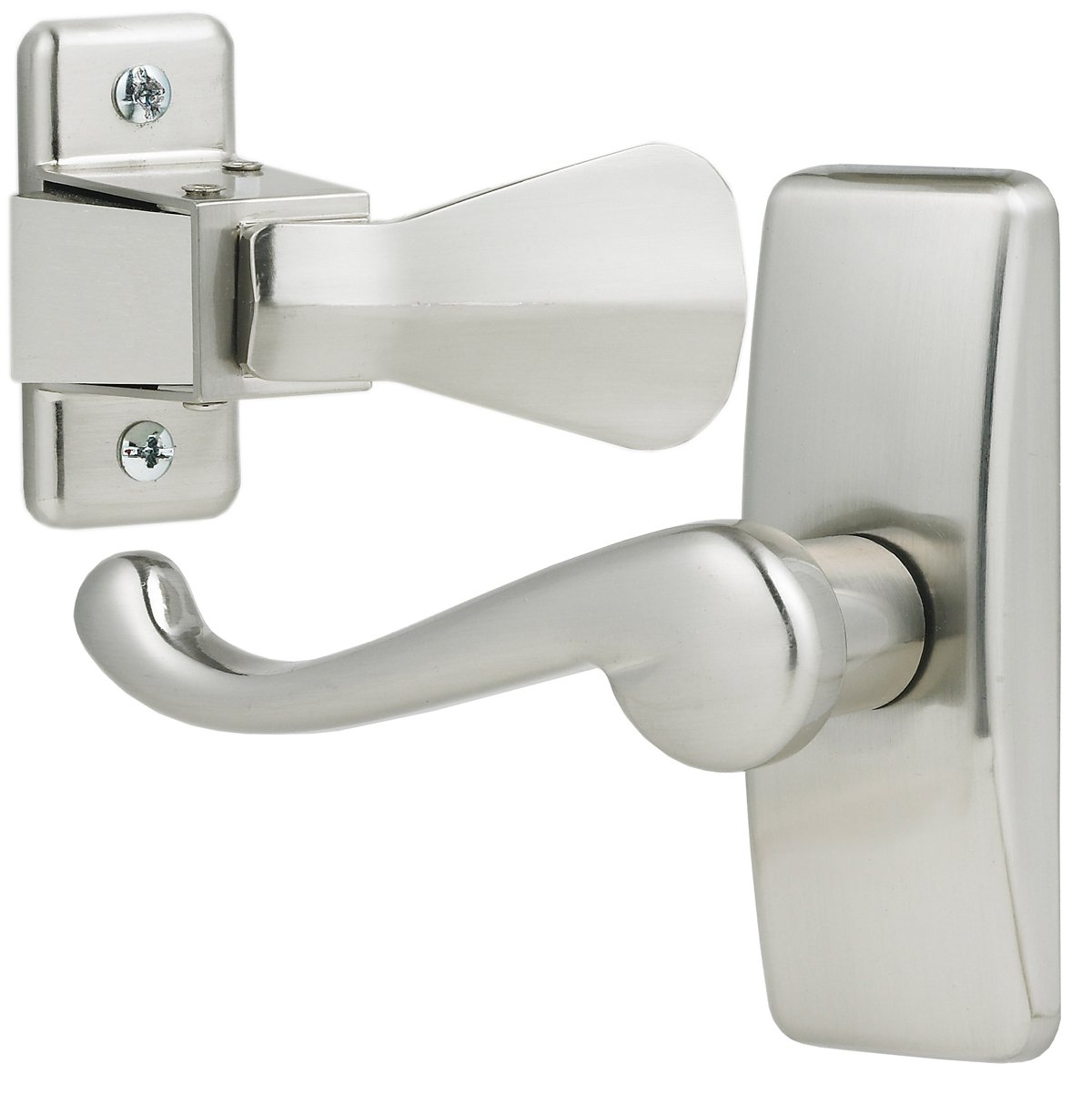 Ideal Security GL Lever Set For Storm and Screen Doors A Touch of Class, Easy to Install Satin Silver