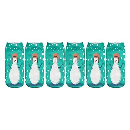 3 Pares Calcetines de Navidad Calcetín Calcetines de Navidad 3D Calor de Invierno Santa