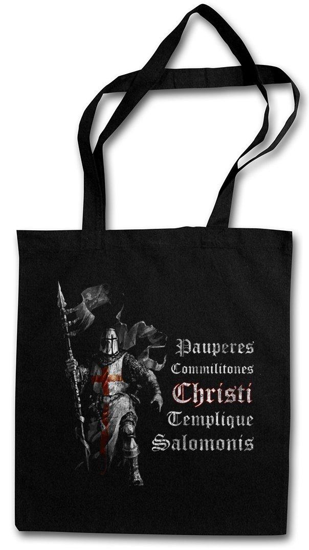 TEMPLAR I STOFFTASCHE Cross Templerkreuz Knight Ritter Ordo Orden Kreuzritter