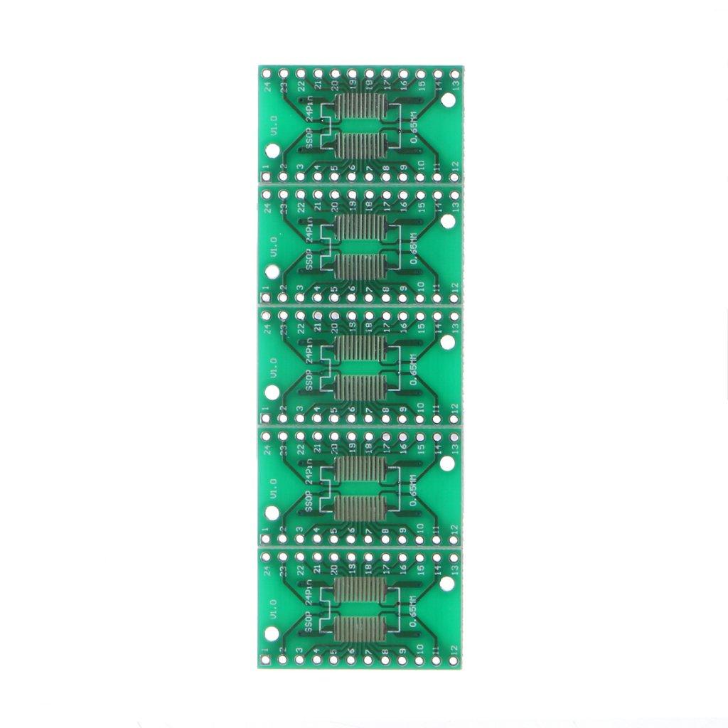 JENOR Lot de 30 PCB Board Kit SMD Dip Adaptateur convertisseur FQFP32-100 QFN48 SOP8 16 24 28