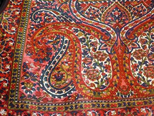 Foulard Gamme Traditional de Soie Motif Panaji Red de Pashmina & Silk