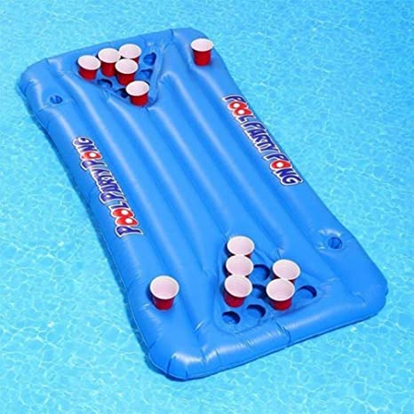 Colchoneta hinchable para cerveza, piscina, mesa de billar de cerveza flotante, mesa de cerveza para inflar, accesorios de piscina: Amazon.es: Instrumentos musicales