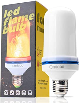 OMICOO LED Flame Effect Light Bulb