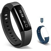 Arbily Rastreador de acondicionamiento físico, Vigorun4 el mejor rastreador y monitor de ritmo cardíaco, para natación, impermeable, reloj/contador de pasos/GPS/pulsera inteligente para Android e iOS