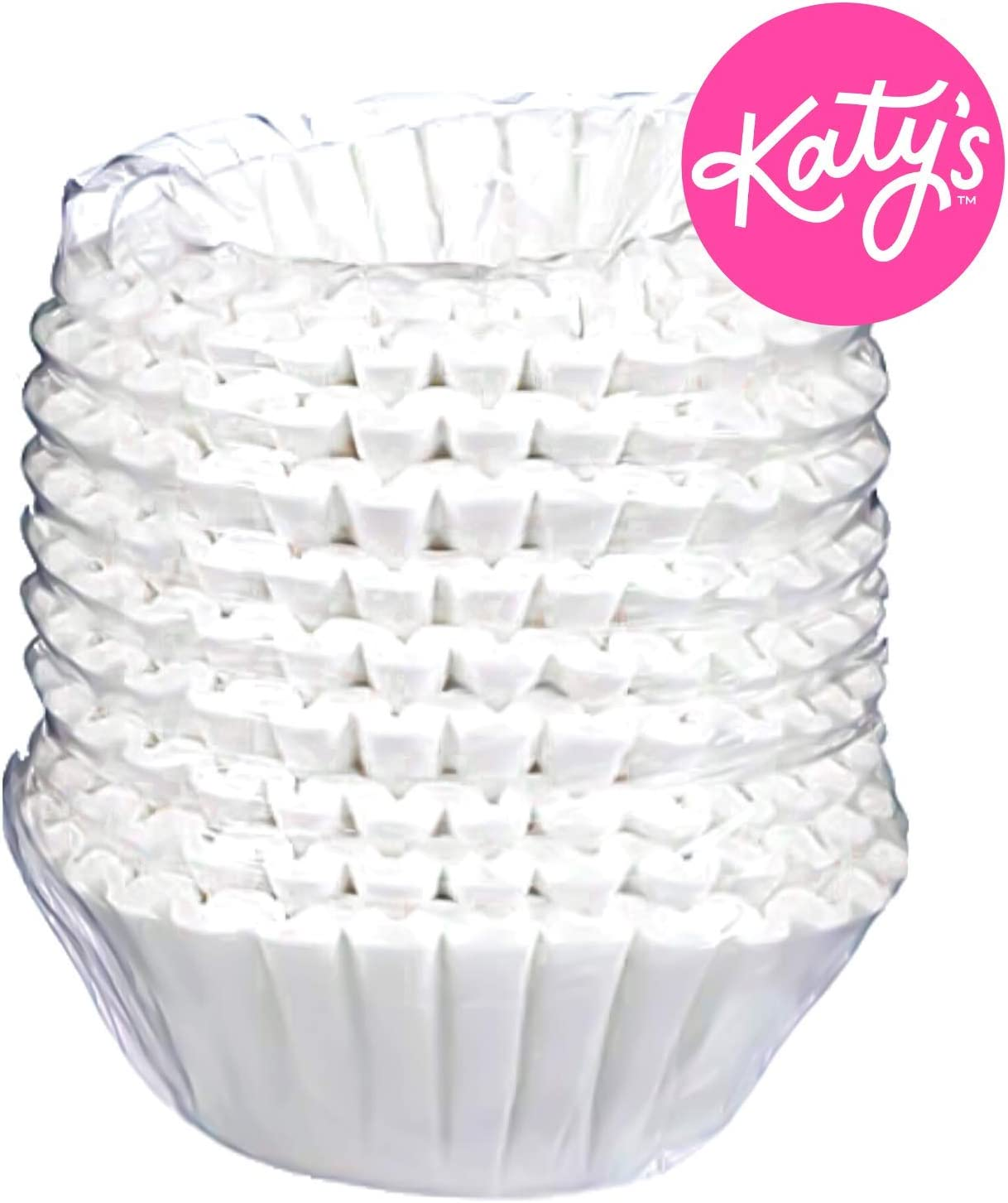 "DRINK KATY'S | Large 12 Cup Commercial Coffee Filters - 9.75"" x 4.5"" 