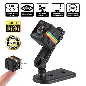 94f962d8b8ec8d Mini Camera Espion, Full HD 1080P Caméra Cachée SQ11 Portable Spy Caméra  avec Vision Nocturne