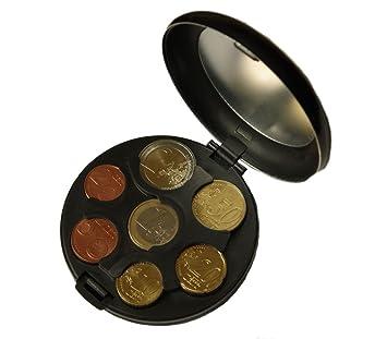 Caja MaxBox para monedas de euro, de aluminio, práctica caja para guardar monedas negro: Amazon.es: Oficina y papelería