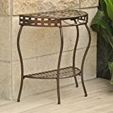 International Caravan Santa Fe 2 Tier Half Moon Patio Table in Bronze Review