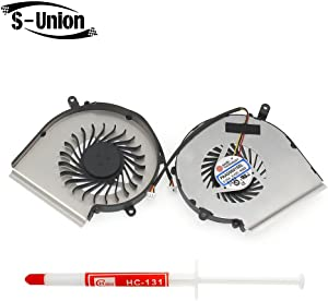 S-Union Replacement GPU Cooling Fan for MSI GE62 GE72 GL62 GL72 PE60 PE70 Series Compatible Part Number PAAD06015SL N302 (Not CPU Fan!!) with Thermal Grease