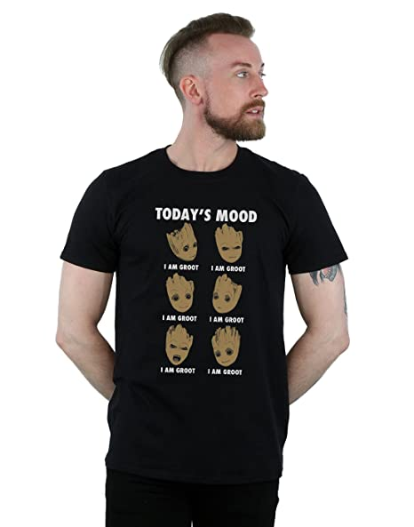 47b6a3391 Marvel Men's Guardians of the Galaxy Groot Today's Mood T-Shirt Black Small