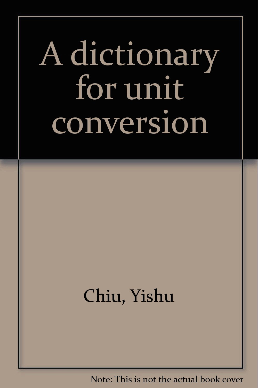 Unit Conversion Book