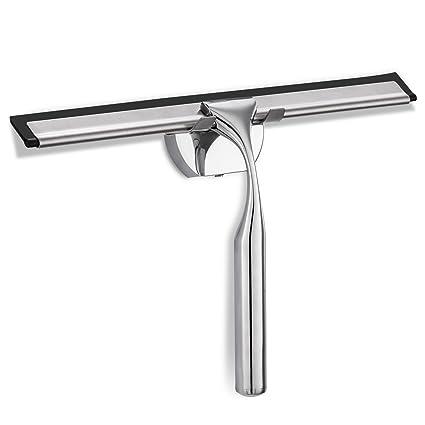Rasqueta limpiacristales ventana limpiaparabrisas metal de acero inoxidable de alta calidad Material con soporte de pared