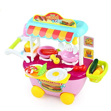 Amazon.com: iMakcc 34PCS Children\'s Pretend Play Kitchen Set ...