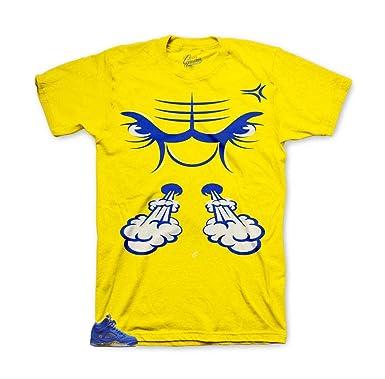 bfacfc6f6ded0d Tee Shirt Match Jordan 5 Laney Varsity Royal - Bullface Sneaker Tee (Small)  Yellow