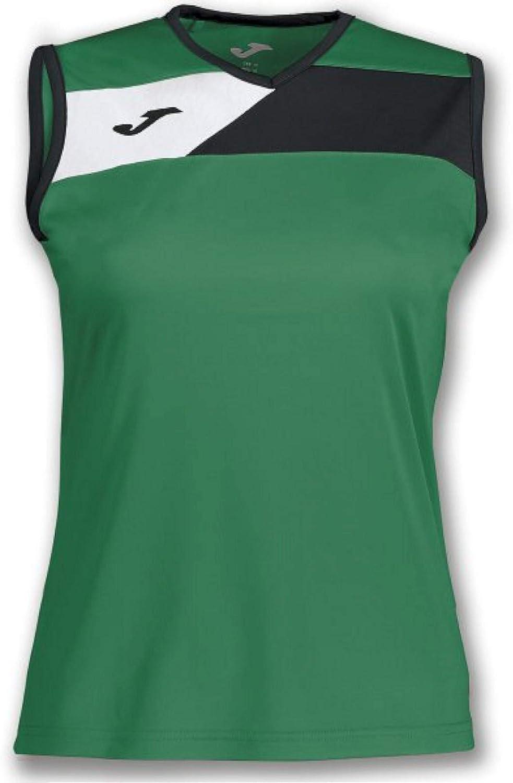Joma Camiseta Crew II Verde-Negro S/M Mujer - Camiseta Mujer ...