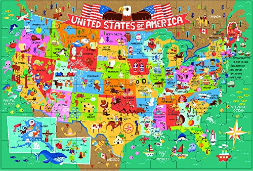 Innovative Kids Green Start Giant Floor Puzzles: America the Beautiful Geography Maps (United Floor States Puzzle)