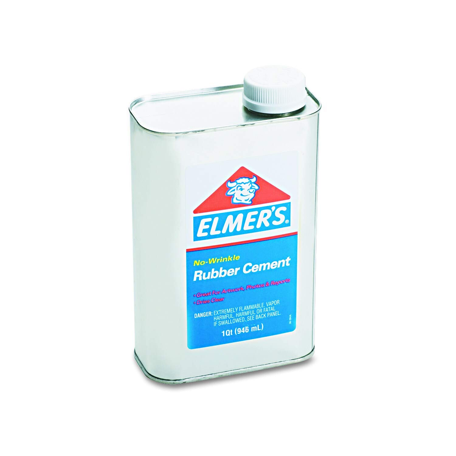 Rubber Cement 1qt Repositionable Clear Latex by Unknown