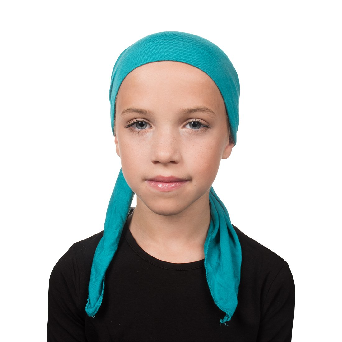 Landana Headscarves Kids Chemo Cap Pretied for Girls Soft Cancer Scarf - Turquoise