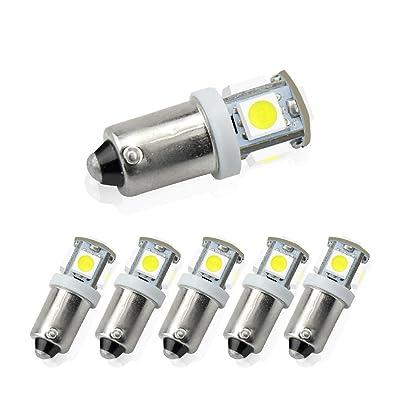Luxvista BA9S LED Bulb White - 12V RV BA9S LED Lights Interior Door Side LED Bulb Courtesy Light Replacement for Halogen Bulb Used for License Plate Light Bayonet Reverse Light Daylight(6-Pack): Automotive