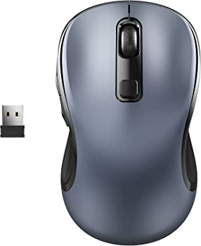 WisFox 2.4G Wireless Ergonomic Portable Cordless Optical Mice