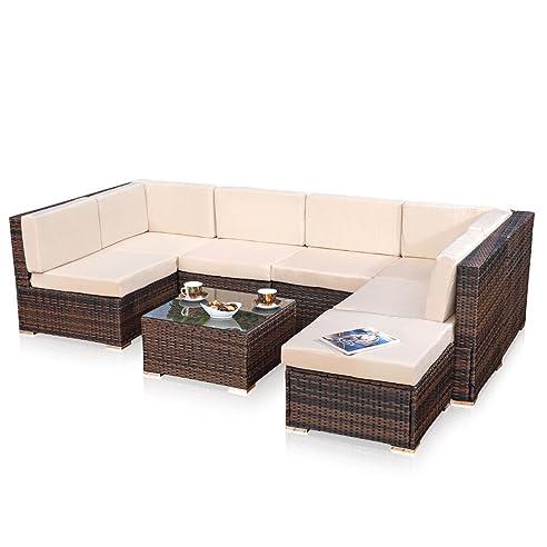 Amazon.de: XXL Lounge Gartenmöbel Set Sitzgruppe Garten Sofa + ...