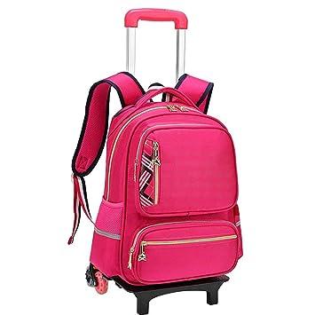 XHHWZB Mochila rodante, Mochila Escolar con Ruedas, Maleta con Ruedas, Mochila de Regreso a la Escuela para niños y niñas (Color : Rosa): Amazon.es: ...