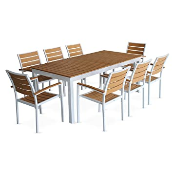 alice\' Garden Lounge Set - Extendable Table - Brown Seattle Brown ...