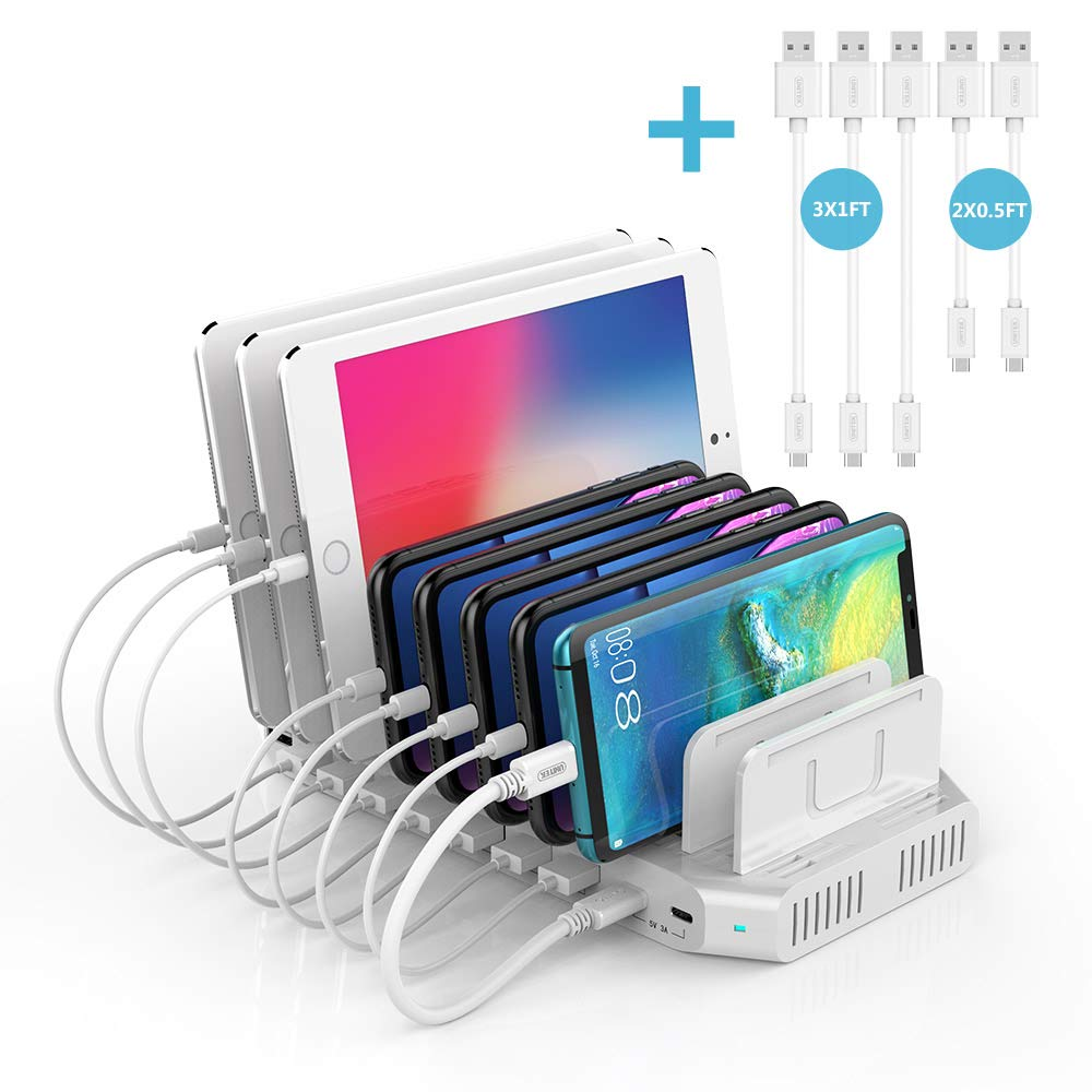 Unitek USB C PD Charging Station, 120W 10 Port Type C Charging Organizer for Multiple Devices, iPhone, Smartphones, Tablets, Supports 8 iPads Charging Simultaneously- [UL Certified]