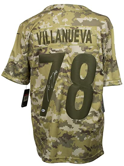 purchase cheap d78c3 714fb Alejandro Villanueva Signed Steelers Salute To Service Nike ...